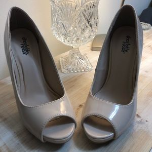 Cream heel shoes Charlotte Russe